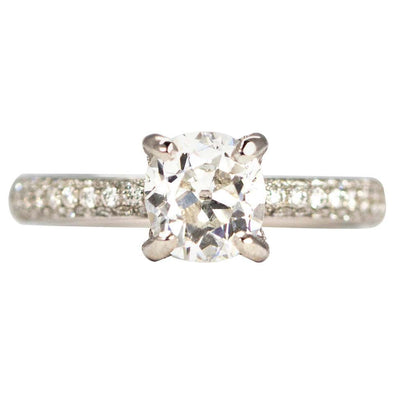 Vintage Diamond and 18 Carat White Gold Solitaire