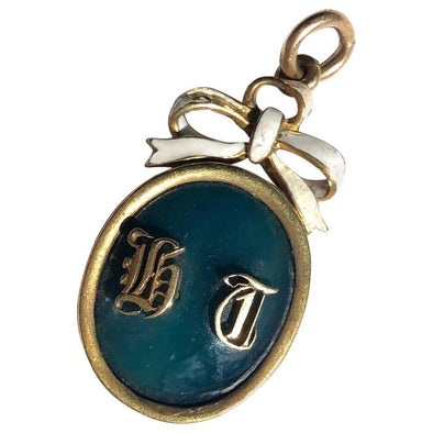 Victorian Enamel and 15 Carat Gold Locket Pendant