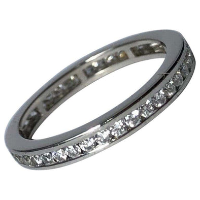 Vintage Diamond and Platinum Eternity Band