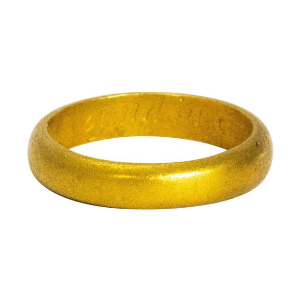 Late 17th-Early 18th Century 18 Karat Gold Posy Ring