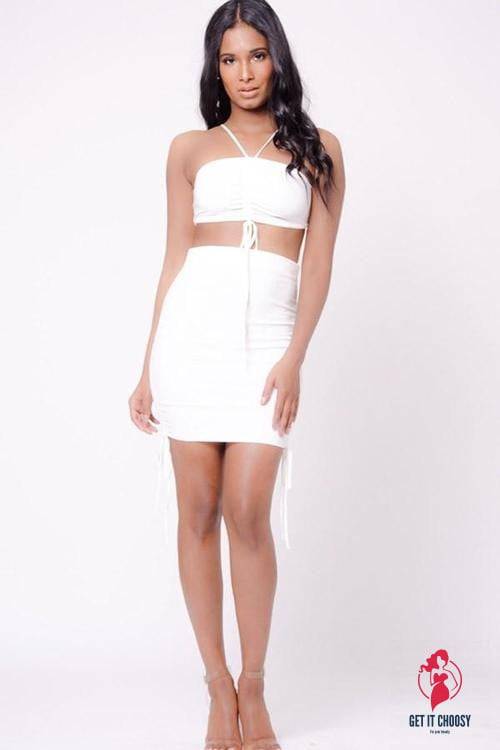 HALTER NECK TWO PIECE SET by Getitchoosy