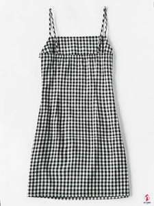 Gingham Print Cami Dress by Getitchoosy