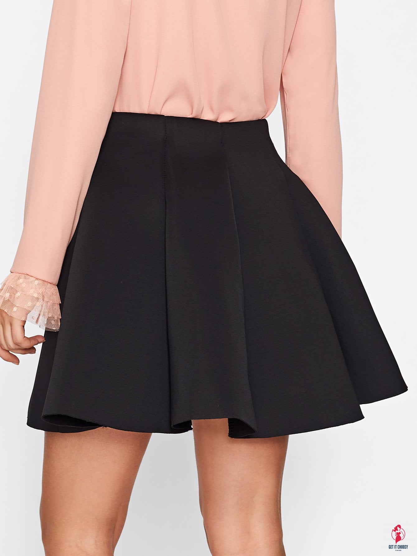 Box Pleated Skirt by Getitchoosy