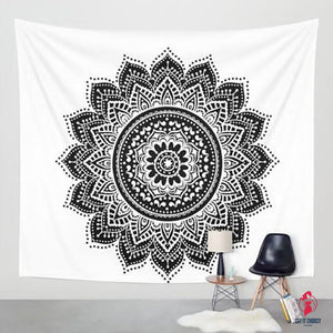 Printed Lotus Tapestry Bohemia Boho Mandala Tapestry Wall Hanging For Wall Decoration Hippie Tapestry Beach Towel Yoga Mat by Getitchoosy