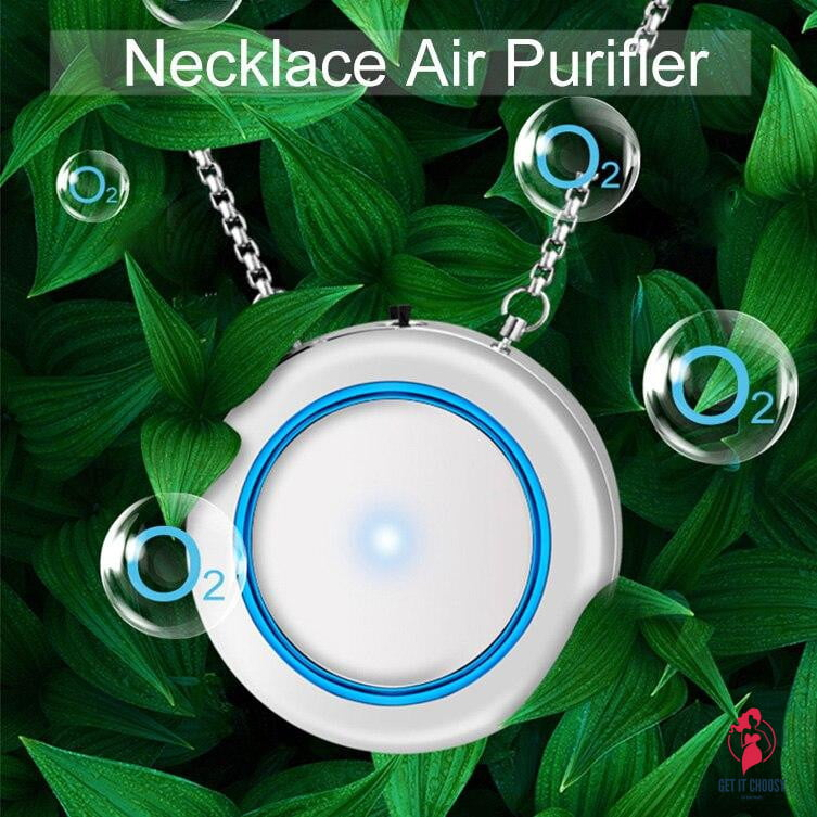 Necklace Air Purifier Pendant Negative Ion Air Cleaner USB Filter PM2.5 Secondhand Smoke Bacterial Formaldehyde Purifier by Getitchoosy