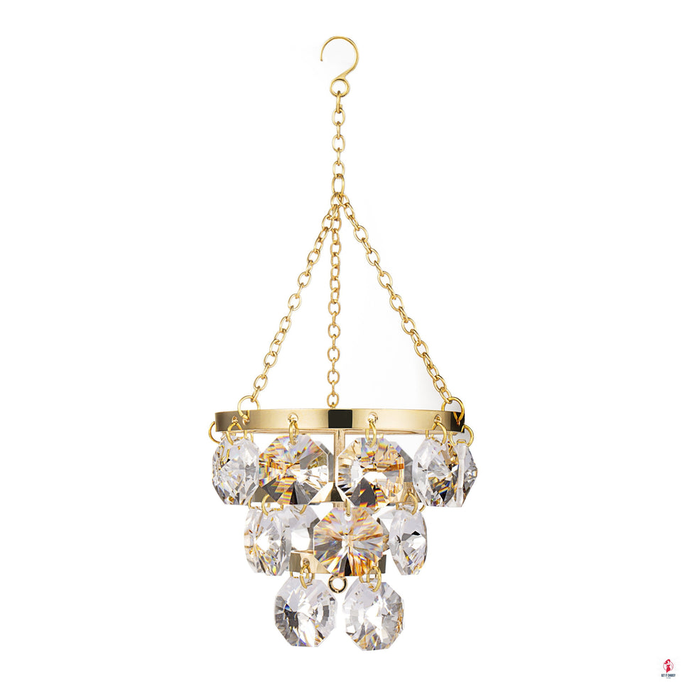24K gold/silver plated chandelier with Swarovski by Getitchoosy