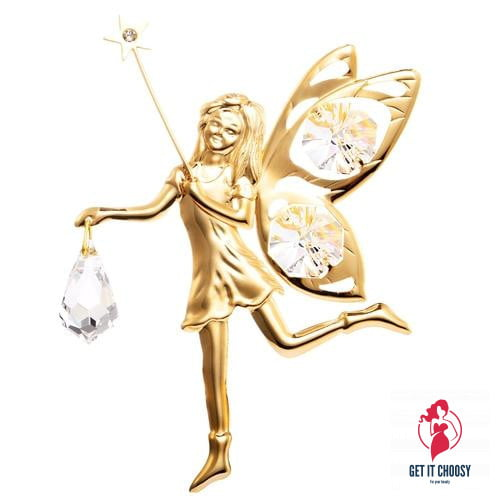 24K gold plated fairy with Swarovski crystal by Getitchoosy