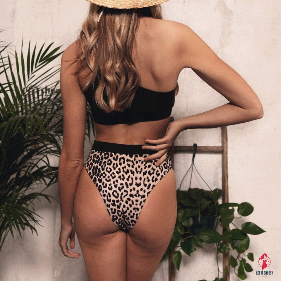 Hot Sexy Women Leopard Printed Bathing Wear 2019 Latest Push-Up Padded Lady Lengerie String Singel Strap Hollow Out Underwear by Getitchoosy