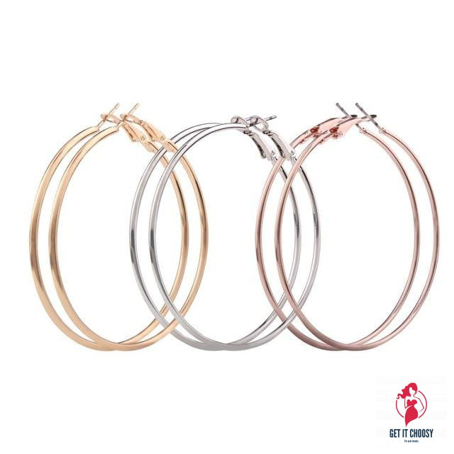 3 Pair New Fashion Lady Women Earrings Thin Round by Getitchoosy
