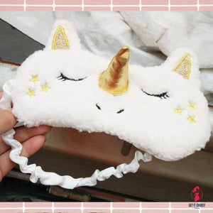 Unicorn Eye Mask Stuffed Toy Sleeping Mask Plush Eye Shade Cover Blindfold Eyeshade Suitable for Travel Home Girlfriend Gift by Getitchoosy