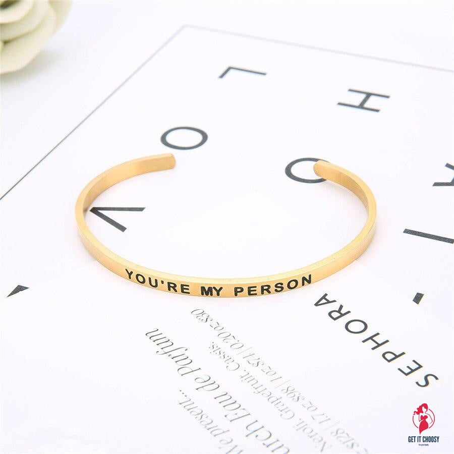 You Are My Person Lettering Bracelets by Getitchoosy