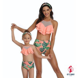 2020 Ruffles Bikini Women Girls Sexy Vintage Swimsuit Brazilian High Waist Bikini Set by Getitchoosy