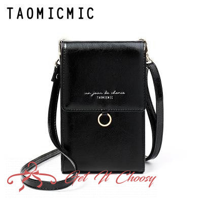 Female bag Korean casual handbags Fashion wallet PU solid color retro Messenger bag by Getitchoosy
