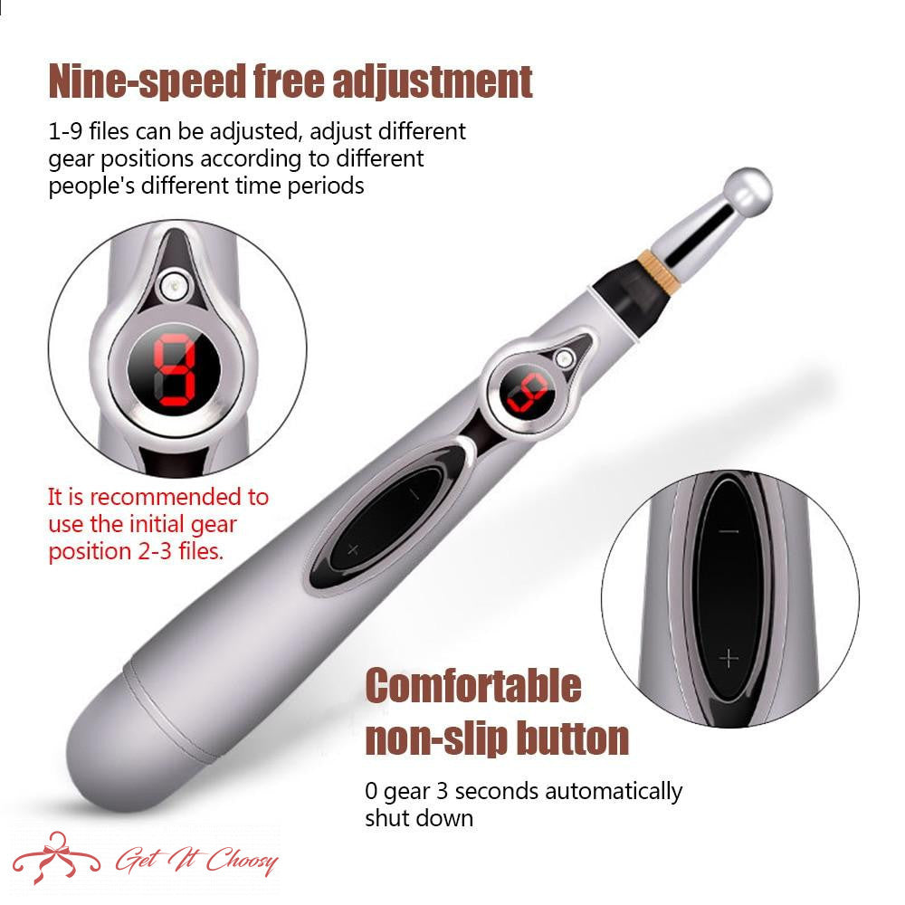 Electric Acupuncture Pen Electronic Meridian Energy Body Massager Pain Relief Therapy Instrument massage relaxation by Getitchoosy
