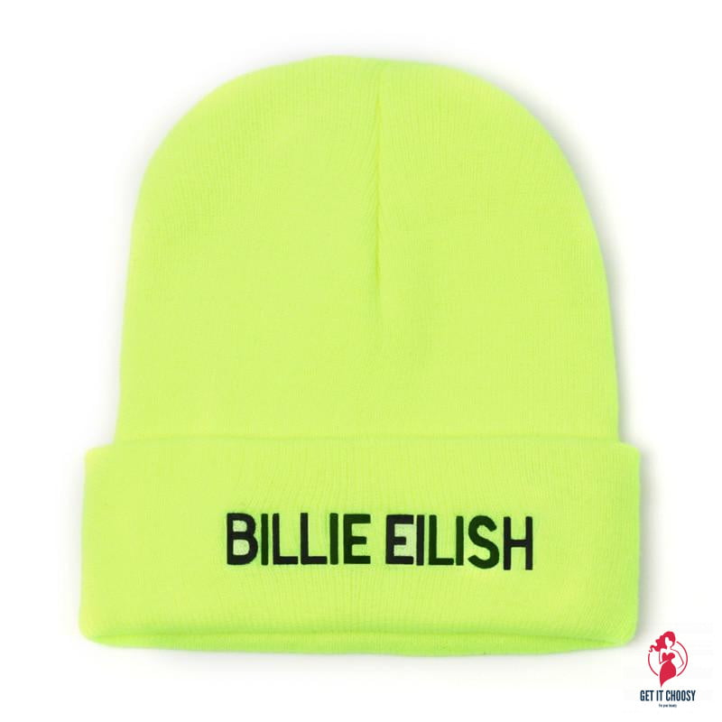 Embroidery Billie Eilish Beanie Hat Women Men Knitted Warm Winter Hats For Women Men Solid Hip-hop Casual Cuffed Beanies Bonnet by Getitchoosy