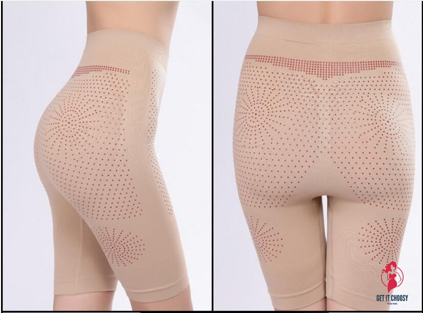 Far Infrared Magnetic Therapy Slimming Pants Seamless Trigonometric Drawing Abdomen Pants Body Shaper by Getitchoosy