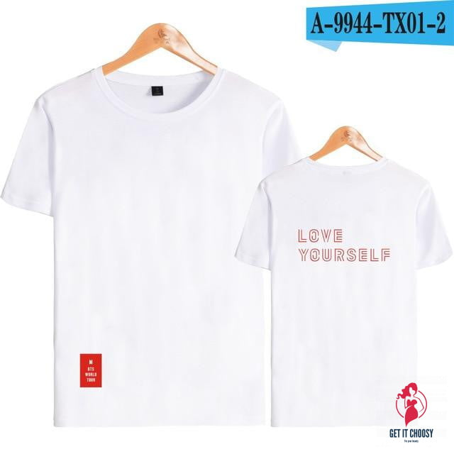 Kpop BTS Love Yourself Answer World Tour Print T-shirts by Getitchoosy