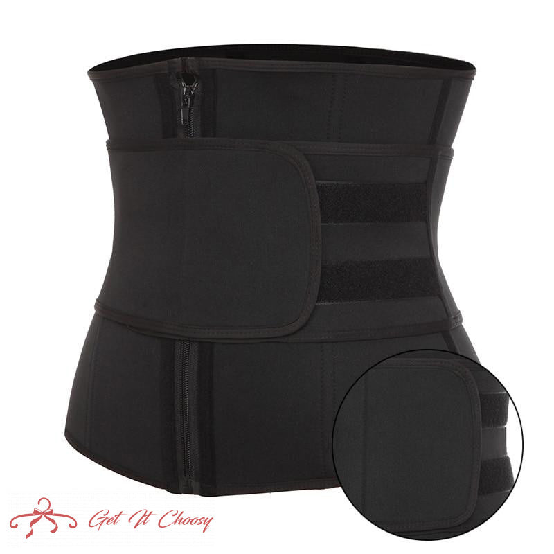 Neoprene Sauna Waist Trainer Corset Sweat Belt for Women Weight Loss Compression Trimmer Workout Fitness by Getitchoosy