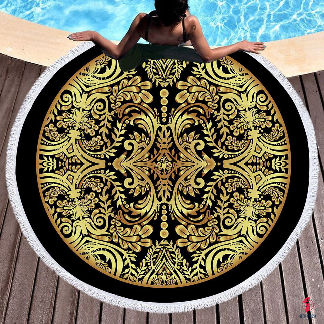 Hot Stamping Beach Towels Boho Swimwear Bathing  Blanket by Getitchoosy