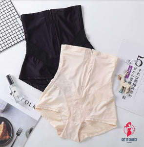 Women Sexy Body Shaping Wear Postpartum Ultra-Thin Belly Underwear High Waist Hip Stomach Abdomen Safety Underwear Pants by Getitchoosy