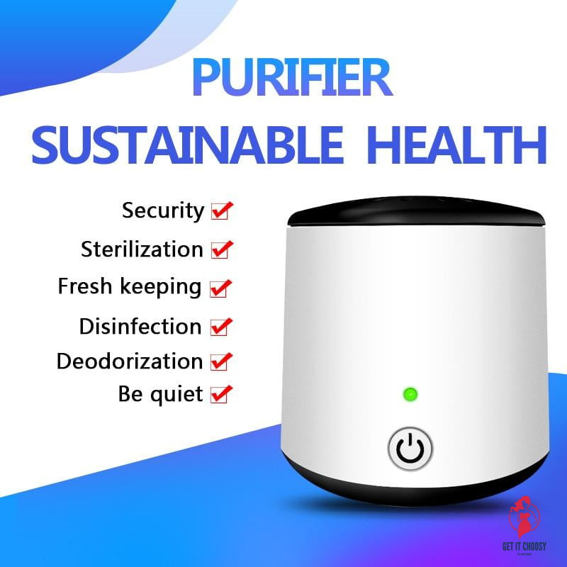 Mini Portable Ozone Generator Air Purifier Ionizer Cleaner Remover Odour Cigarette Smell Bacteria Fridge Car Cabinet by Getitchoosy