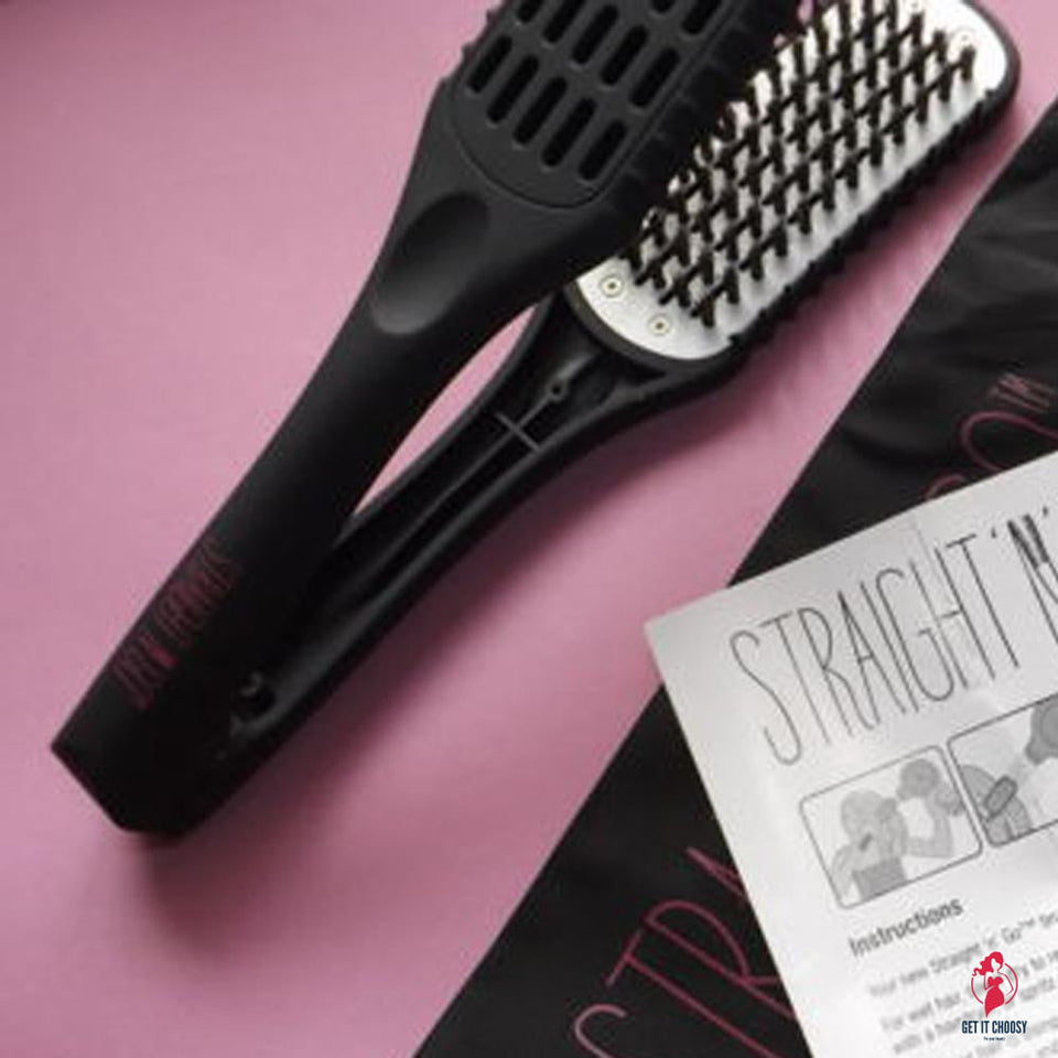 TV hot products straight n go brush hair straightener comb Without electricity hair care styler products  20C M by Getitchoosy