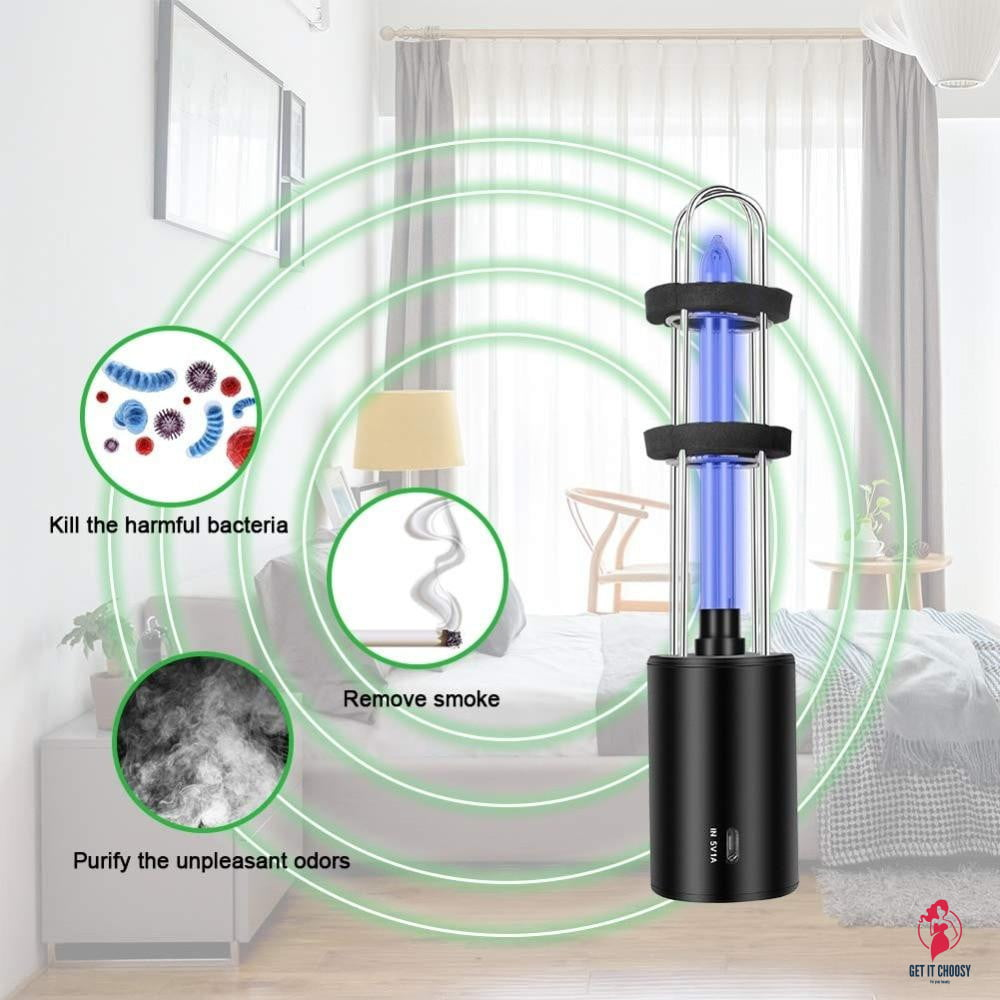 Rechargeable Ultraviolet UV Sterilizer Light Tube Bulb Disinfection Bactericidal Lamp Ozone Sterilizer Mites Lights presage by Getitchoosy
