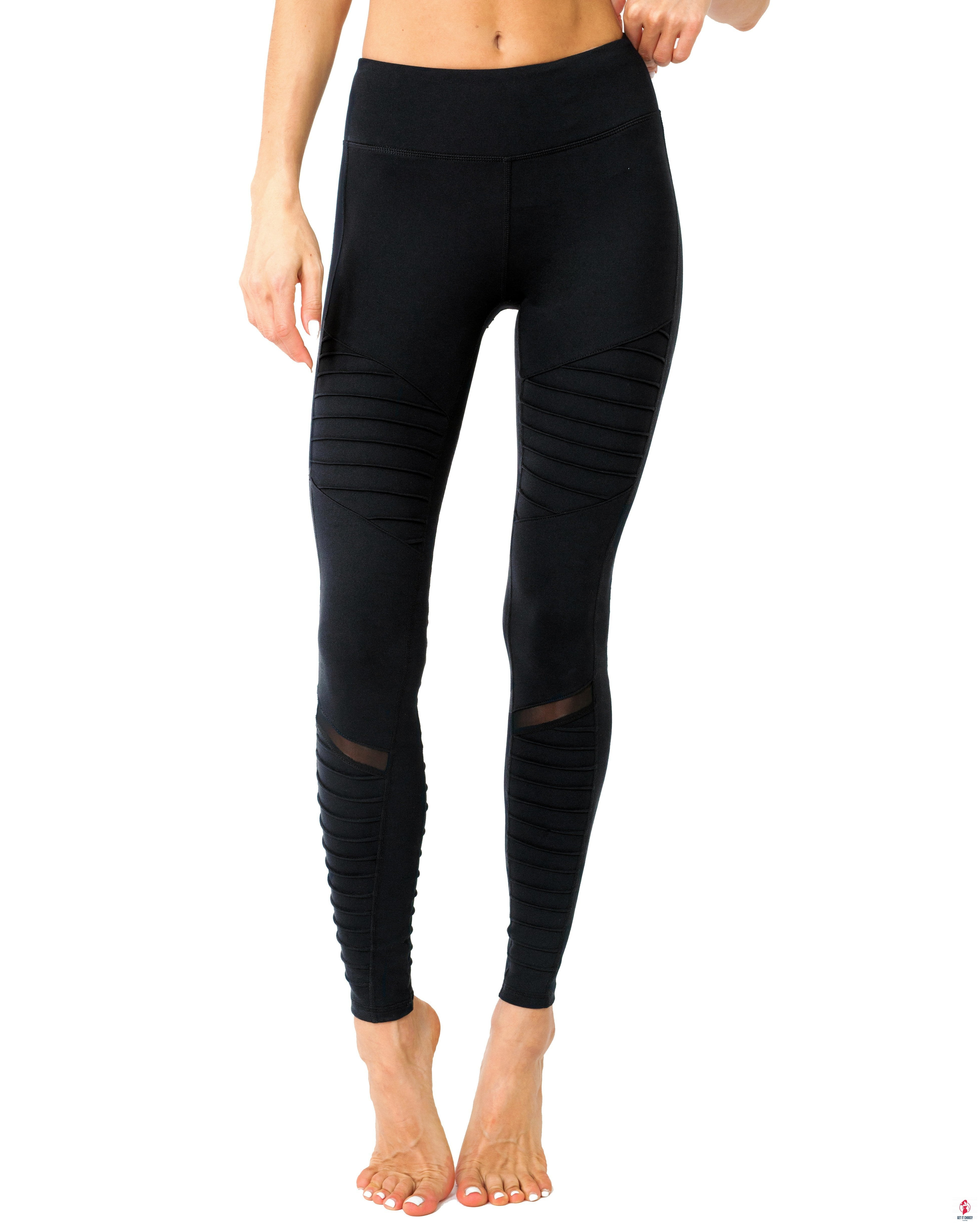 Athletique Low-Waisted Ribbed Leggings With Hidden by Getitchoosy