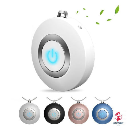 Wearable Air Purifier Necklace Mini Portable USB Air Cleaner Negative Ion Generator Low Noise Air Freshener by Getitchoosy