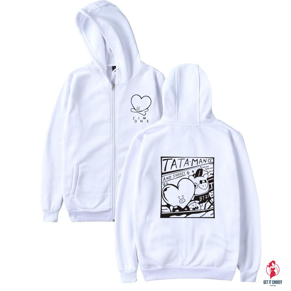 BTS Kpop Love Yourself Zipper Hoodies Sweatshirt Women/Men BTS V jimin by Getitchoosy