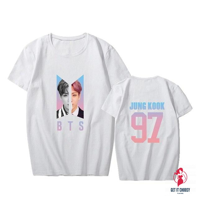 KPOP BTS Bangtan Boys Love Yourself Answer Photo Short Sleeve Tops T-shirts by Getitchoosy