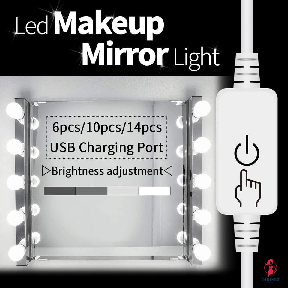CanLing USB LED 12V Vanity Mirror Makeup Lamp 10  Bulbs Kit For Dressing Table Stepless Light 8W by Getitchoosy