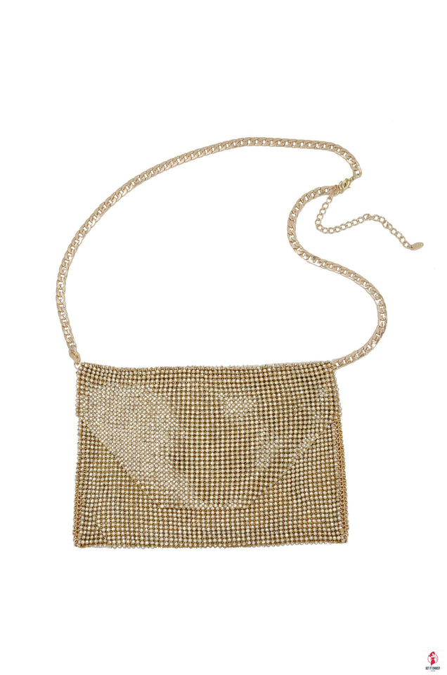 Gold Shimmer Night Out Fanny Pack with Gold Chain by Getitchoosy
