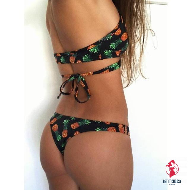 Beautiful Women Pineapple Print Bikini Set of Two by Getitchoosy