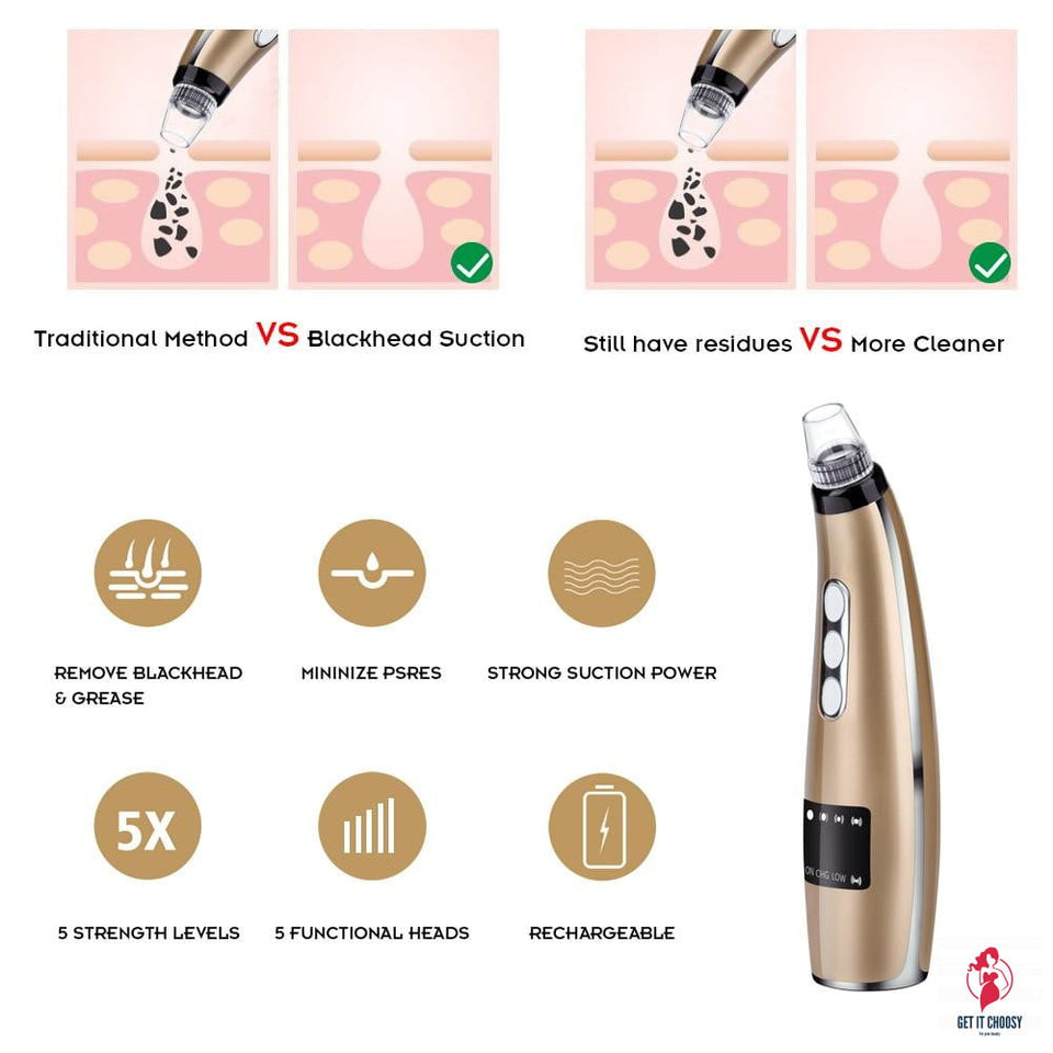 Blackhead Remover Face Clean Pore Vacuum Acne by Getitchoosy