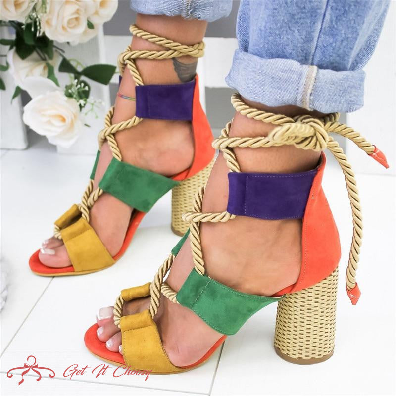 Summer Wedge Espadrilles Women Sandals 7CM Heel Pointed Fish Mouth Sandals Woman Hemp Lace Up Women Platform Sandals by Getitchoosy