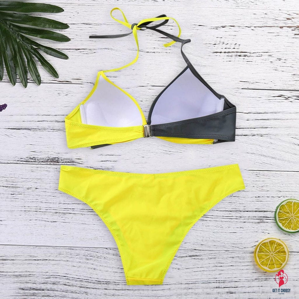 Bikinis 2020 Mujer Womens Padded Push-up Bra Bikini Set Swimsuit Bathing Suit Swimwear Beachwear Biquini Maillot De Bain Femme by Getitchoosy
