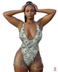 Summer Bathing One Piece Swimwear Women Sexy US Dollars Biquini Swimsuit