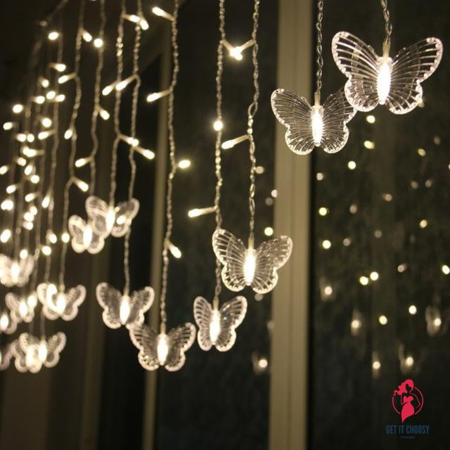 Christmas Tree Hanging Led Butterfly String Light by Getitchoosy