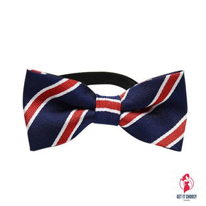 Classic Stripe Pet Dog Bow Tie Collar Adjustable by Getitchoosy