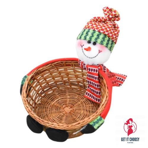 Cute Christmas Candy Storage Bamboo Xmas Gift by Getitchoosy