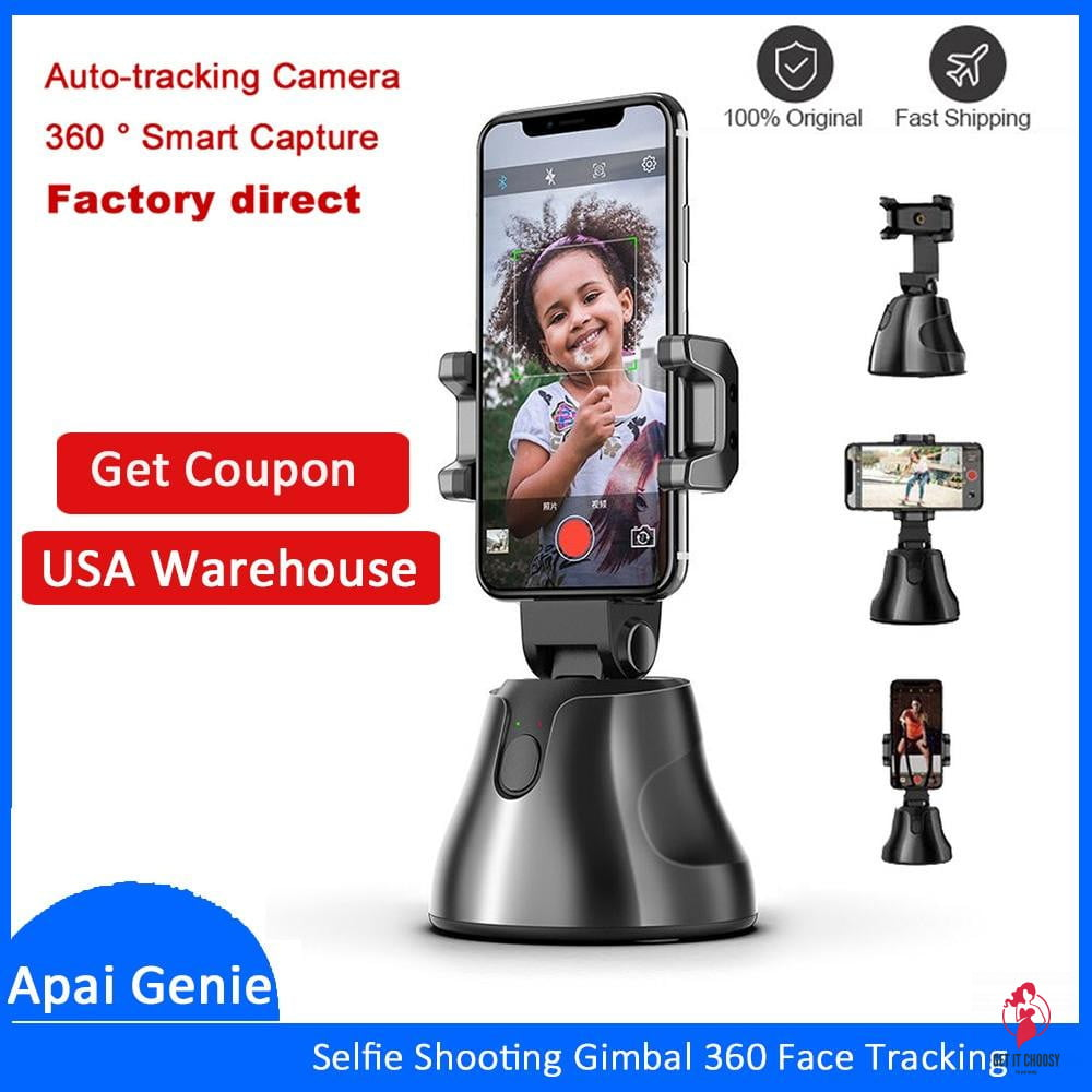 Portable All-in-one Auto Smart Shooting Selfie Stick ,  360 Rotation Auto Face Tracking Object Tracking vlog Camera Phone Holder - Get It Choosy