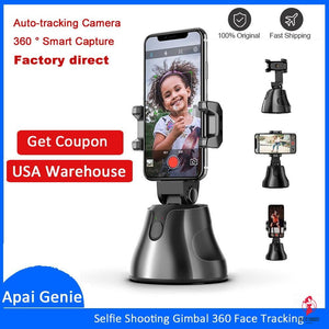 Portable All-in-one Auto Smart Shooting Selfie Stick ,  360 Rotation Auto Face Tracking Object Tracking vlog Camera Phone Holder