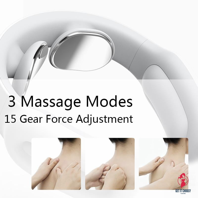 Smart Electric Neck and Shoulder Massager Pain Relief Tool Health Care Relaxation Cervical Vertebra Physiotherapy by Getitchoosy