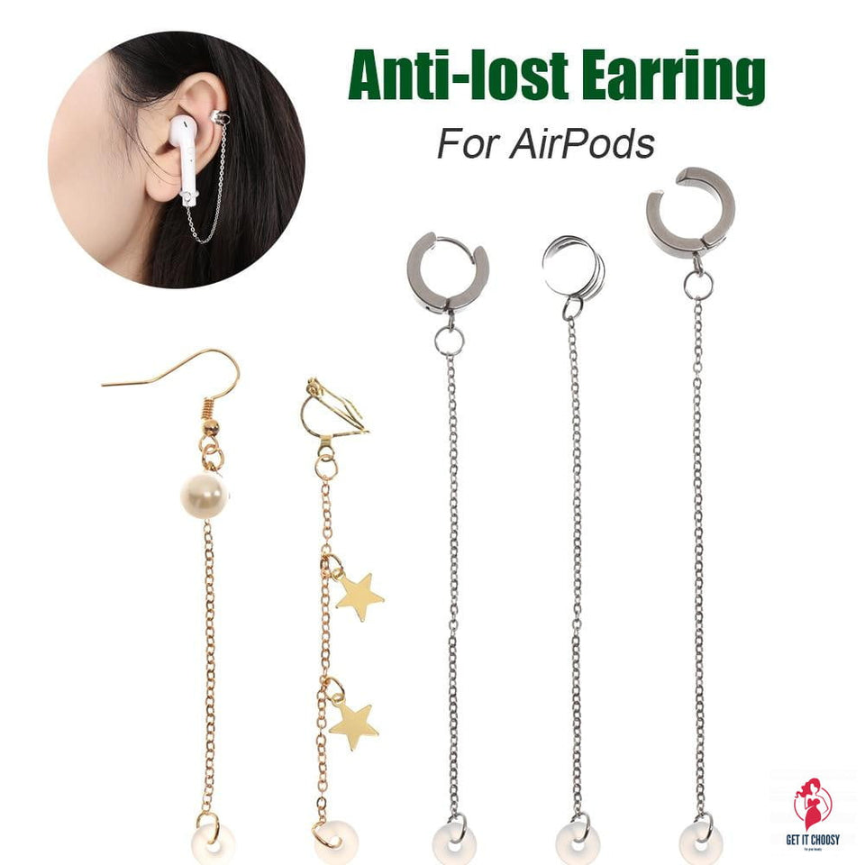 Fashion Anti-Lost Ear Clip Earphone Accessories Unisex Earrings for Airpods 1 2 3 For Airpods Pro Earrings Secure Fit Hooks by Getitchoosy