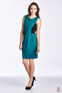 Women's Sleeveless Ponte Colorblock Dress by Getitchoosy