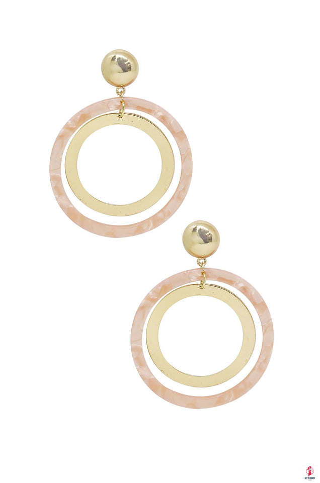 Large Resin Circle & 18kt Gold Plated Hoop by Getitchoosy