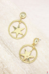 Dramatic Star Hoop Earring in Gold by Getitchoosy