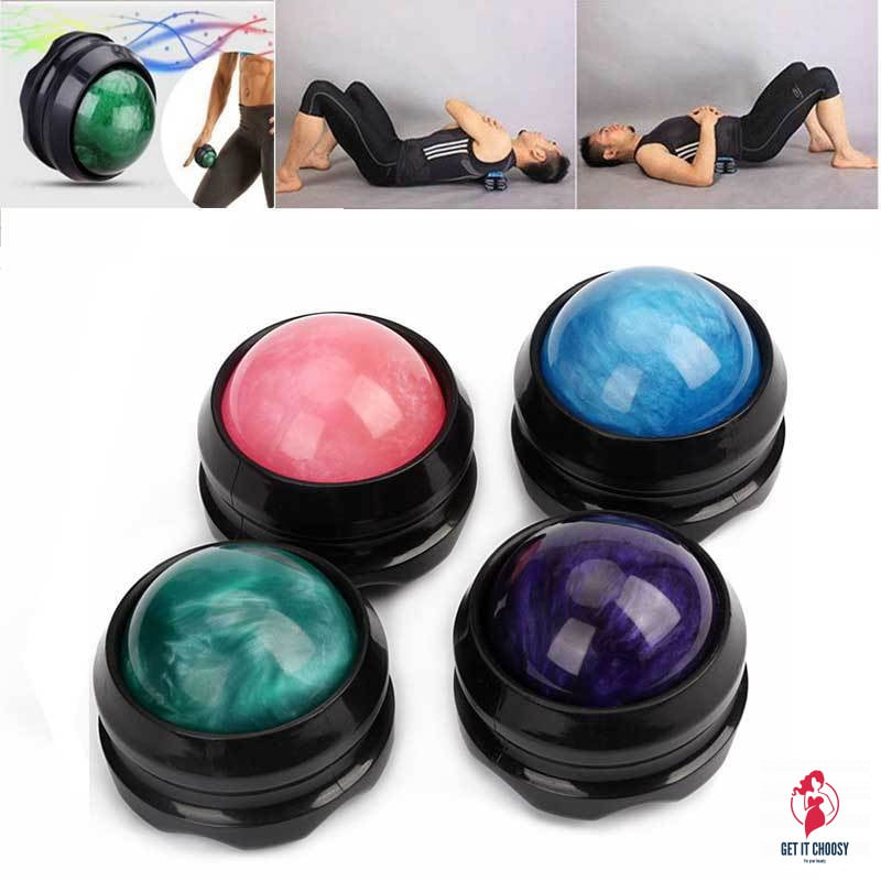 Fitness Massage Roller Ball Massager Body Therapy Foot Hip Back Relaxer Stress Release Muscle Relaxation Roller Ball Massages by Getitchoosy