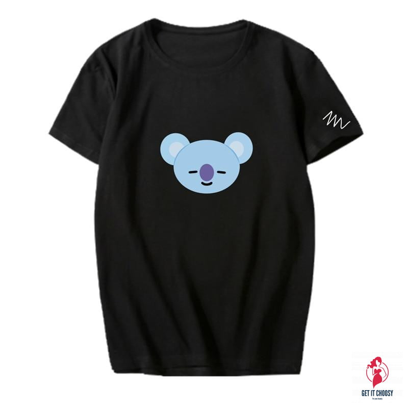 KPOP BT21 Korean Fashion BTS Bangtan Boys Cotton Tshirt K-POP T Shirts T-shirt by Getitchoosy